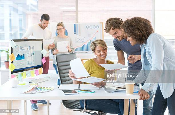 People working at a creative office