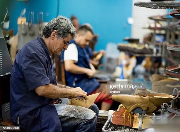 People working at a factory