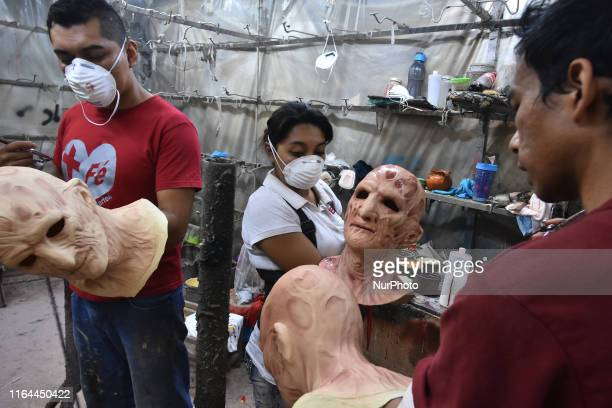 People working during the manufacturing of latex mask at Rev Factory who is the its the main industry in Latin America in the creation of latex masks...