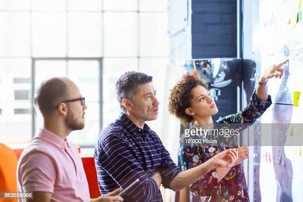 People working in creative studio