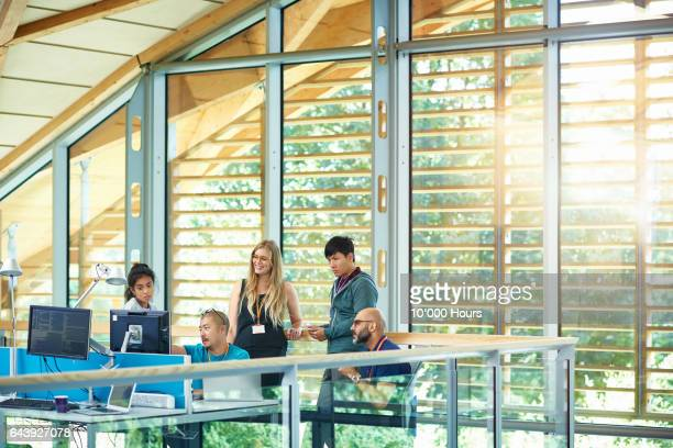 people working in modern office. - small group of people stock pictures, royalty-free photos & images
