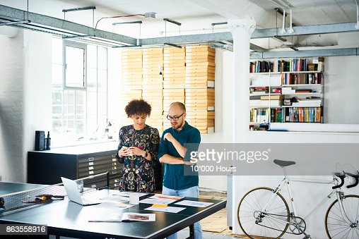 People working in modern office