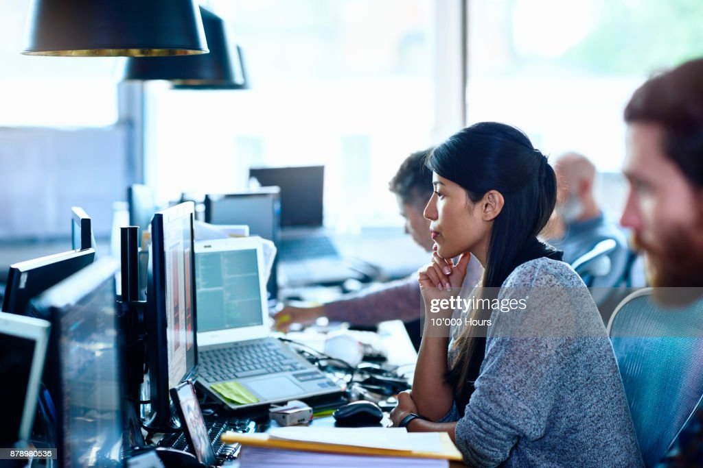 People working in modern office : Stock Photo