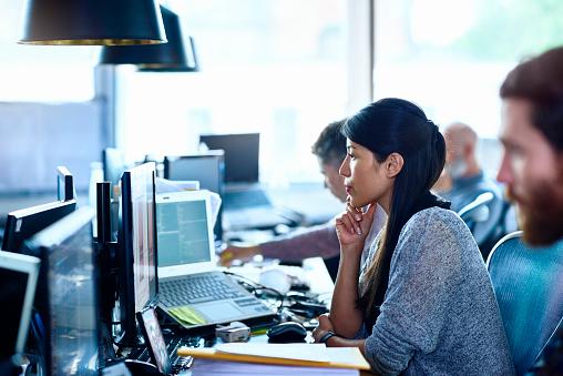 People working in modern office - gettyimageskorea