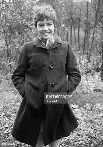 people young girl coat portrait aged 18 to 22 years Monika