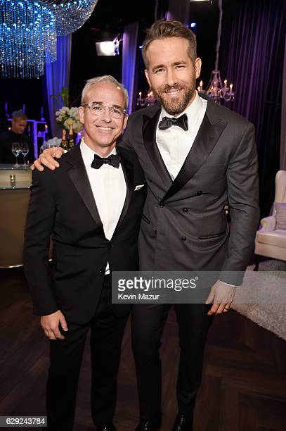 People/EW Editorial Director Jess Cagle and Entertainer of the Year award winner Ryan Reynolds attend The 22nd Annual Critics' Choice Awards at...