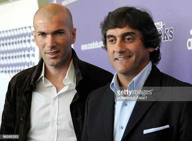 GUINE 'PeoplemédiasinternettélévisionsportfootFRAURUMG' This file picture dated March 15 2010 shows former football players French Zinedine Zidane...
