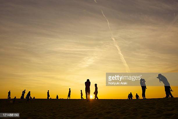 Peoples and sky