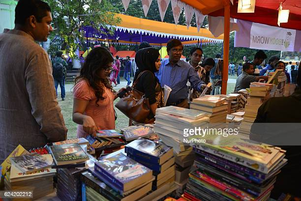 Peoples attend the preeminent international literary festival of the country begun at the Bangla Academy of the Dhaka University campus in Dhaka...