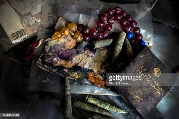 People's belongings found in or near the mass graves collected as part of the ICMP mission April 15 2008 in Lukavac Bosnia The International...