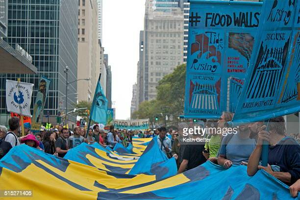 People's Climate March New York City September 21 2014 'Flood Wall Street' Demonstration