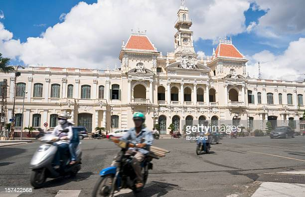 peoples committee building in ho chi minh city (saigon), vietnam - people's committee building ho chi minh city stock pictures, royalty-free photos & images