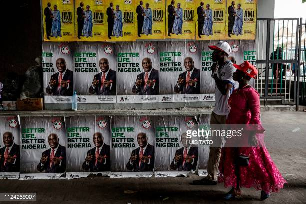 People's Democratic Party supporters arrive at the Tafawa Balewa Square in Lagos where the official opposition PDP party is holding a rally on...