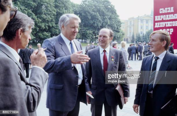People's deputy Boris Yeltsin in Moscow, Russia, in June 1989.