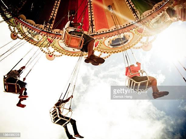 Peoples enjoying on ride  at funfairs, Malaysia