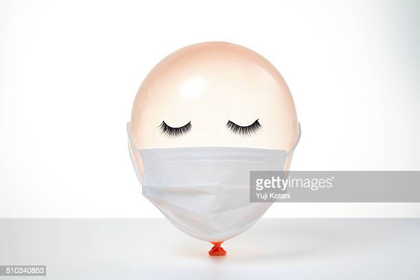 people's face made from the balloon - funny surgical masks stock pictures, royalty-free photos & images