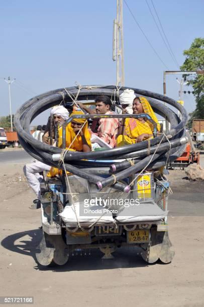 Peoples in Rickshaw at Gujarat, India