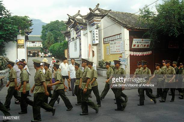 People's Liberation Army in Dali Yunnan Province People's Republic of China