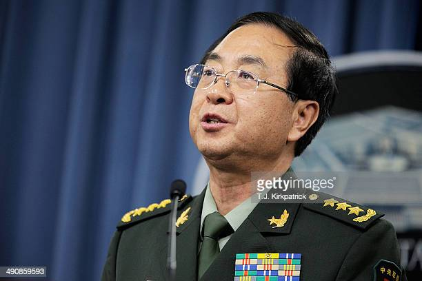 People's Liberation Army of China Chief of the General Staff Gen Fang Fenghui hold a joint press conference with Chairman of the Joint Chiefs of...