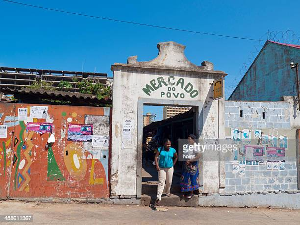 mercado do povo in maputo, mozambique - maputo city stock pictures, royalty-free photos & images