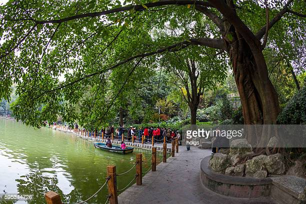 People's Park in Chengdu, China