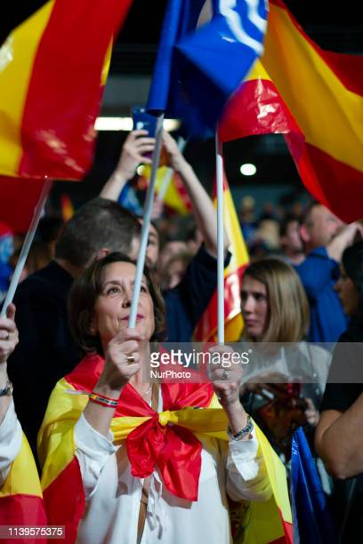 People's Party during his party's election campaign closing at Wizink Center on April 26 2019 in Madrid Spain Spaniards go to the polls to elect 350...