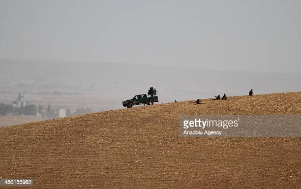 People's Protection Units armed wing of Democratic Union Party attack Islamic State of Iraq and the Levant in Zorafa a region between Tel Abyad and...