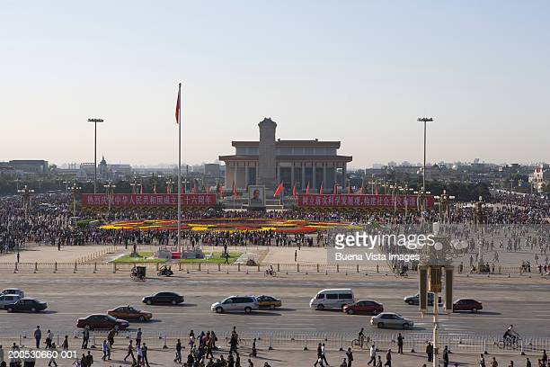 people's republic of china, beijing, tiananmen square - tiananmen square stock pictures, royalty-free photos & images