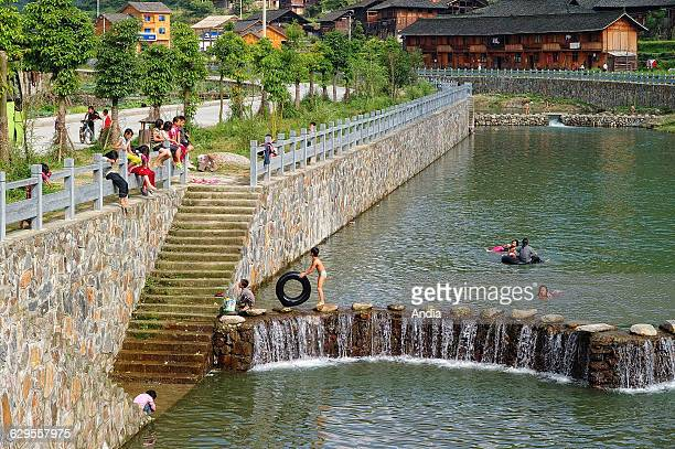 People's Republic of China Guizhou Province Xijiang nicknamed the 'one thousand household village' is the largest village of the Miao people in...