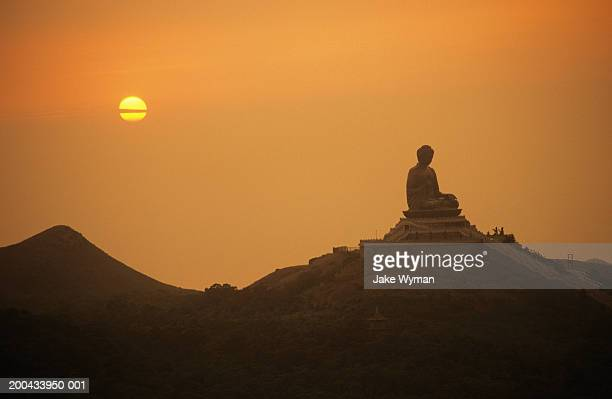 People's Republic of China, Hong Kong, Po Lin Island, Buddha, sunset