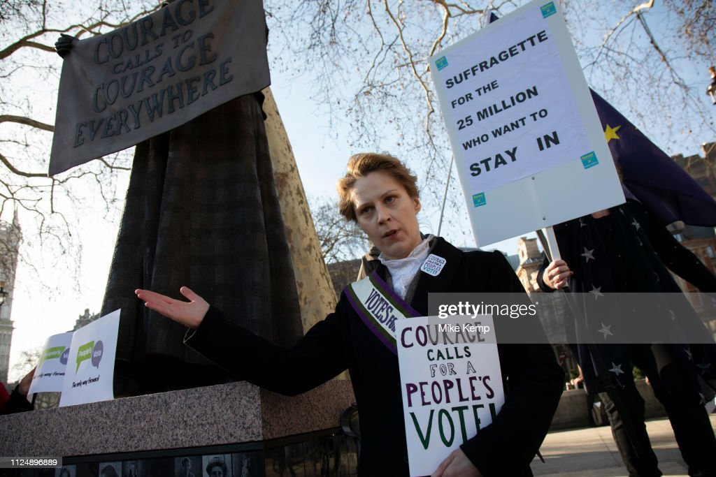 GBR: Peoples Vote Blindfold Brexit In London
