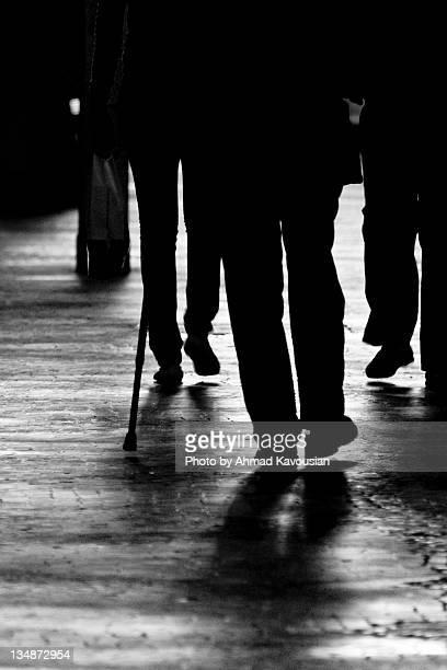 Peoples walking on railway station