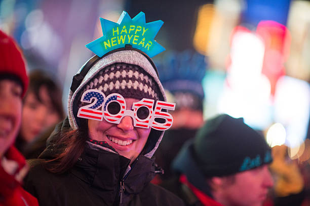 Revelers Celebrate New Year's Eve In New York's Times