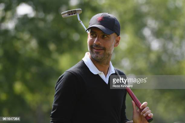 Pep Guardiola looks on during the Pro Am for the BMW PGA Championship at Wentworth on May 23, 2018 in Virginia Water, England.