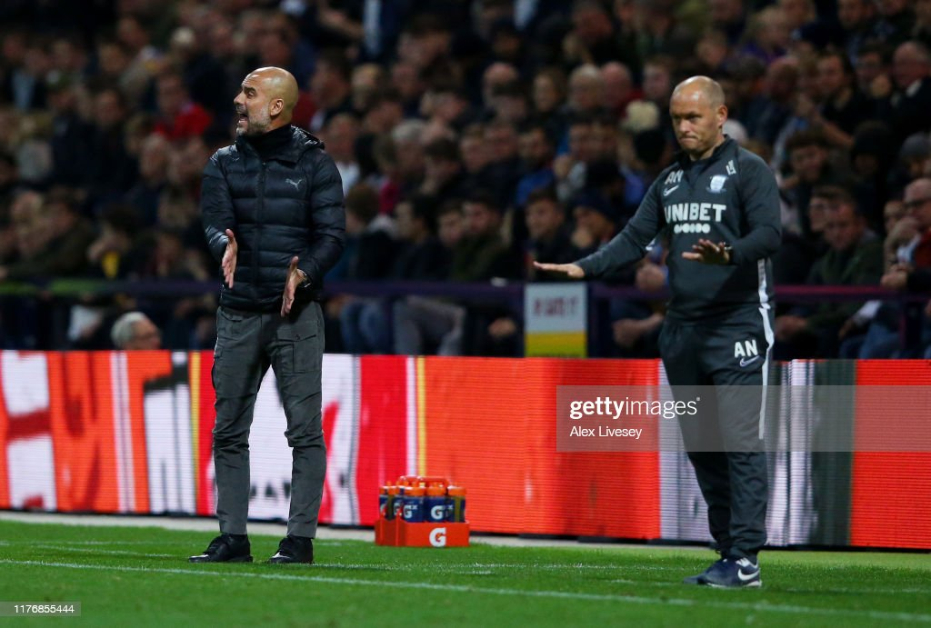 Preston North End v Manchester City - Carabao Cup Third Round : News Photo
