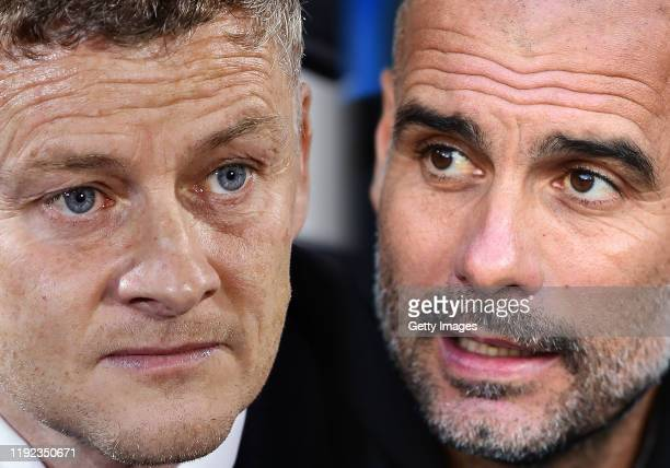 COMPOSITE OF IMAGES Image numbers 11779700741182084551 GRADIENT ADDED In this composite image a comparison has been made between Manager Ole Gunnar...