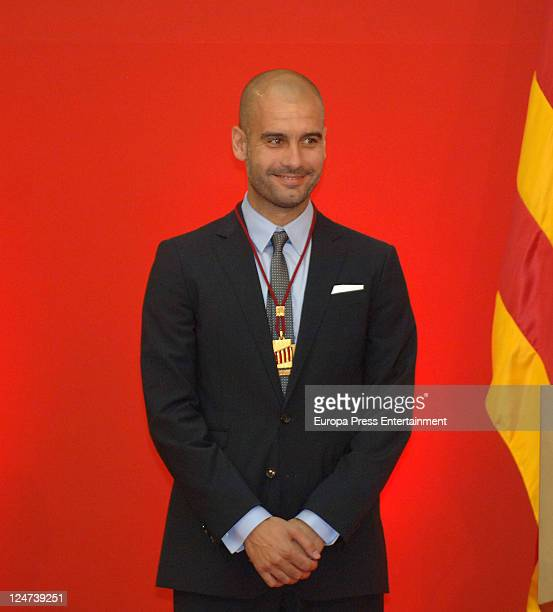 Pep Guardiola receives a gold medal of honour as a recognition for his career and his contribution to the image of a cultured civilized and open...
