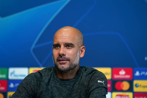 GBR: Manchester City - Press Conference And Training Session