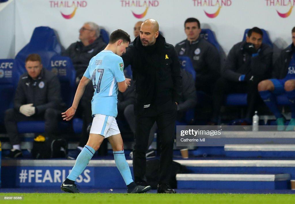 Leicester City v Manchester City - Carabao Cup Quarter-Final : Fotografía de noticias