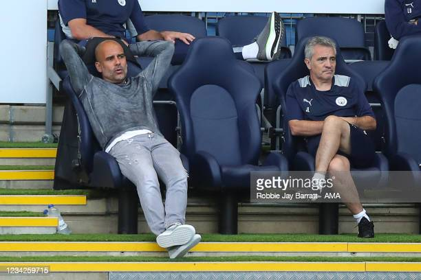 Pep Guardiola the head coach / manager of Manchester City during the Pre Season Friendly between Manchester City and Preston North End at Manchester...