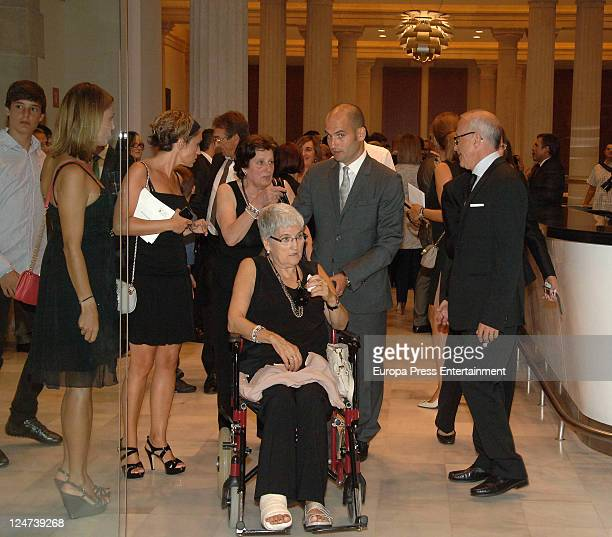 Pep Guardiola's mother Dolors Sala in a wheelchair attends the delivery of gold medal of honour to Pep Guardiola as a recognition for his career and...