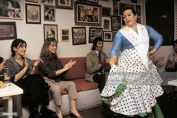 Pepa Flores and Marisol In a flamenco show in one of the caves of the Sacromonte neighborhood