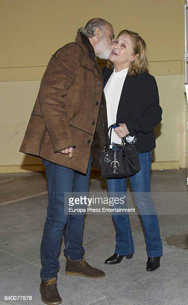 Pepa Flores and Massimo Stecchini attend Celia Flores concert '20 years from Marisol to Pepa Flores' at Cervantes Theatre on December 23, 2016 in...