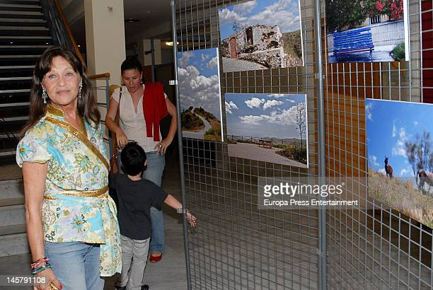 Pepa Flores and Tamara Flores attend Maria Esteve's picture exhibition 'De Malaga Al Cielo'. Her daughters Celia Flores and Tamara Flores also attend...