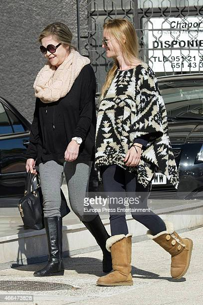 Pepa Flores celebrates her 66th birthday with her daughter Maria Estevez are seen on January 28 2015 in Malaga Spai