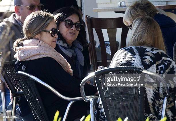 Pepa Flores celebrates her 66th birthday with her sister Maria Victoria Flores are seen on January 28 2015 in Malaga Spai