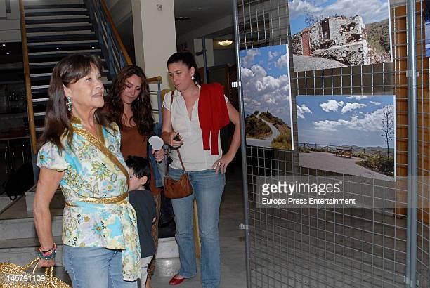 Pepa Flores, Celia Flores and Tamara Flores attend Maria Esteve's picture exhibition 'De Malaga Al Cielo'. Her daughters Celia Flores and Tamara...