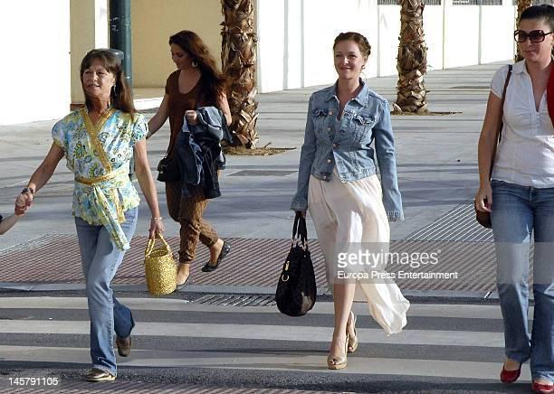 Pepa Flores, Celia Flores, Maria Esteve and Tamara Flores attend Maria Esteve's picture exhibition 'De Malaga Al Cielo'. Her daughters Celia Flores...
