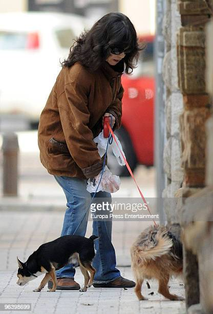 Pepa Flores is seen on February 3 2010 in Malaga Spain