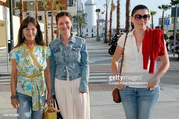 Pepa Flores, Maria Esteve and Tamara Flores attend Maria Esteve's picture exhibition 'De Malaga Al Cielo'. Her daughters Celia Flores and Tamara...